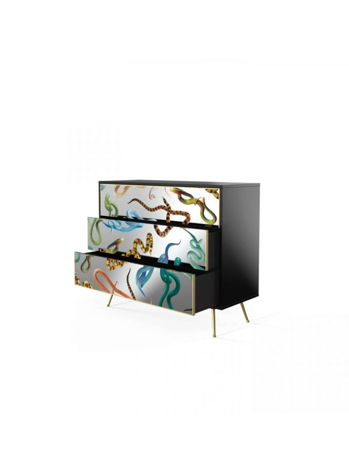 Seletti Snakes Mirror Chest of Drawers