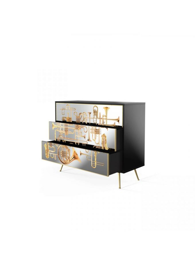 Seletti Trumpets Mirror Chest Of Drawers
